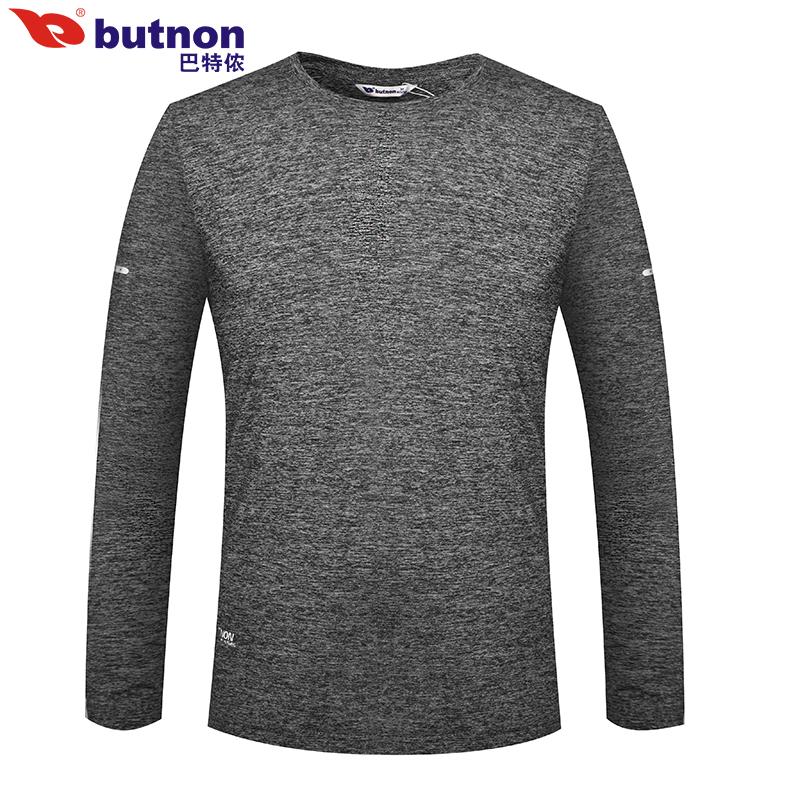巴特侬 圆领运动长袖T恤男女户外长袖T恤强弹力休闲长袖圆领 W8706、M8705-紫棠