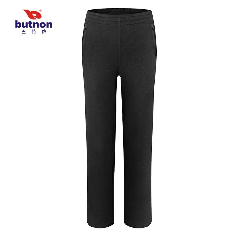 巴特侬秋冬新款女运动长裤不倒绒休闲女裤针织保暖 W9848、M9847-黑色
