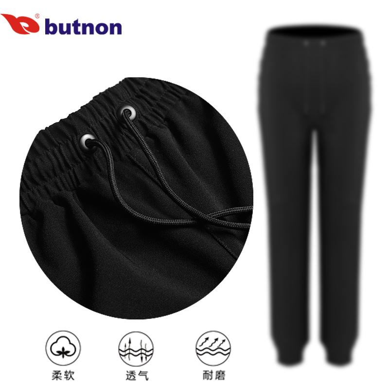 butnon巴特侬男女裤子冬季休闲卫裤束脚小脚裤运动裤长裤针织裤 M8807、W8808-黑色