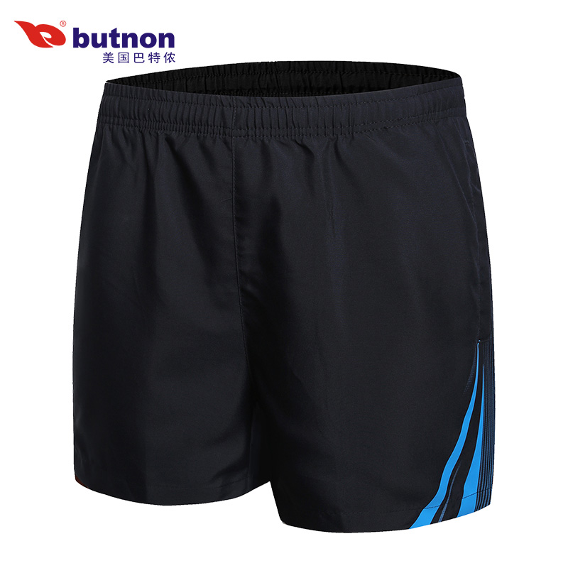 butnon 巴特侬 夏季运动短裤男大码休闲三分裤梭织运动裤透气跑步训练短裤 9317-黑色