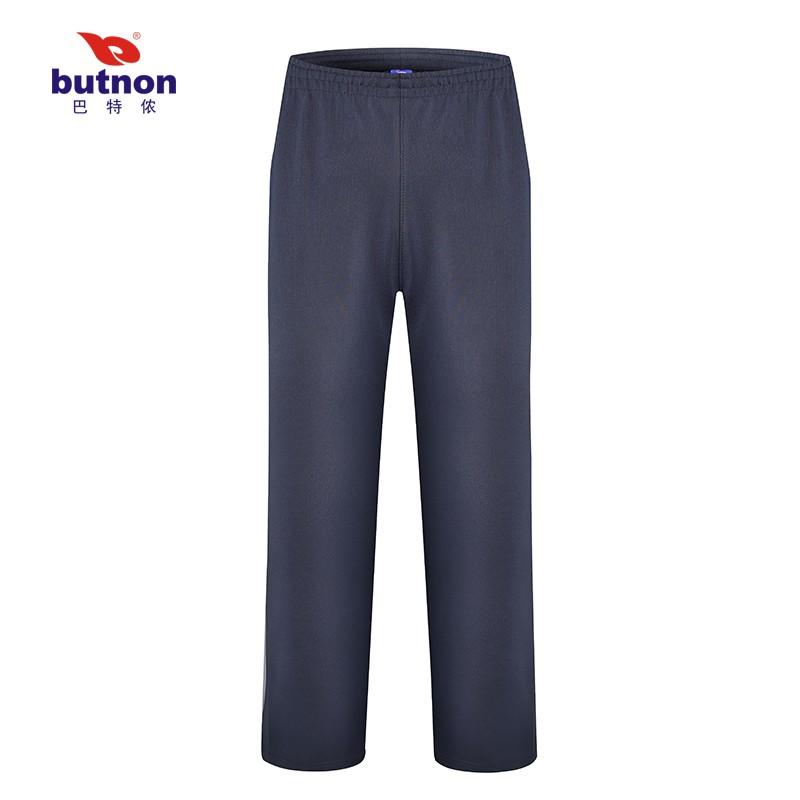 巴特侬butnon男女士运动梭织中裤锦纶面料透气排汗 M1311、M1312-黑色