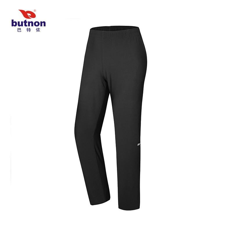巴特侬butnon男女士透气运动长裤高弹锦纶布排汗散热 M1232、M1231-黑色