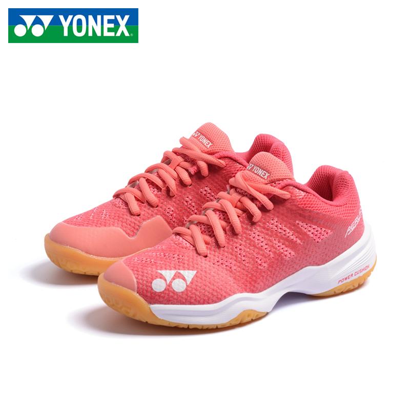 尤尼克斯专业儿童羽毛球鞋男女童YY小孩超轻青少年 SHBA3JRCR-蓝色-玫瑰红