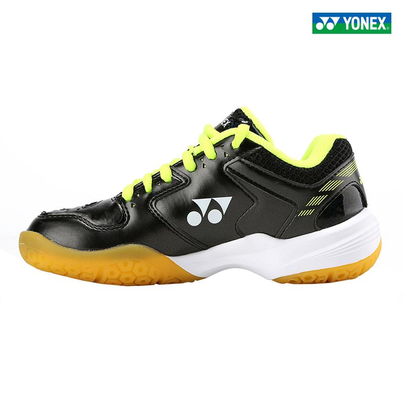 YONEX/尤尼克斯羽毛球鞋 舒适运动鞋男女通用 yy SHB210JRCR-浅蓝-黑/黄-霓虹粉-白/橙