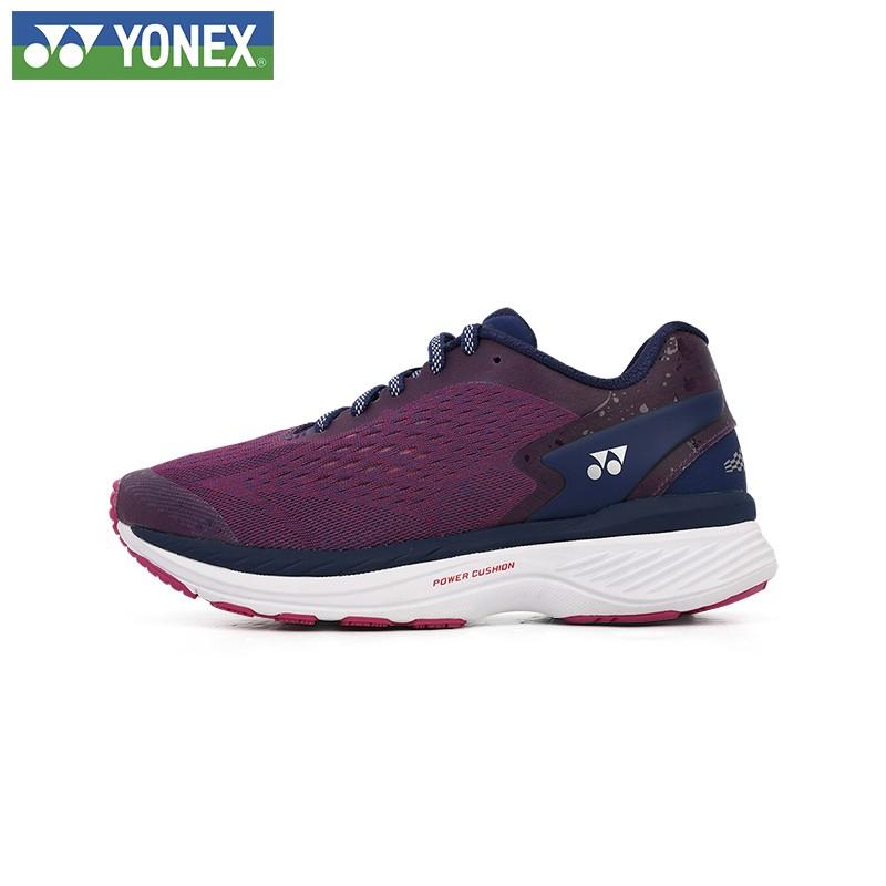 YONEX尤尼克斯2021年新款羽毛球鞋运动超轻女款跑步鞋 SHR200LEX-藏青色/粉红-黑/白