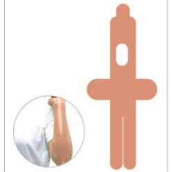 李宁LI-NING 肌肉贴布肌贴胶带拉伤扭伤贴篮球健身运动护具弹性绷带胶布肌内效贴布 LQAL103-1-2