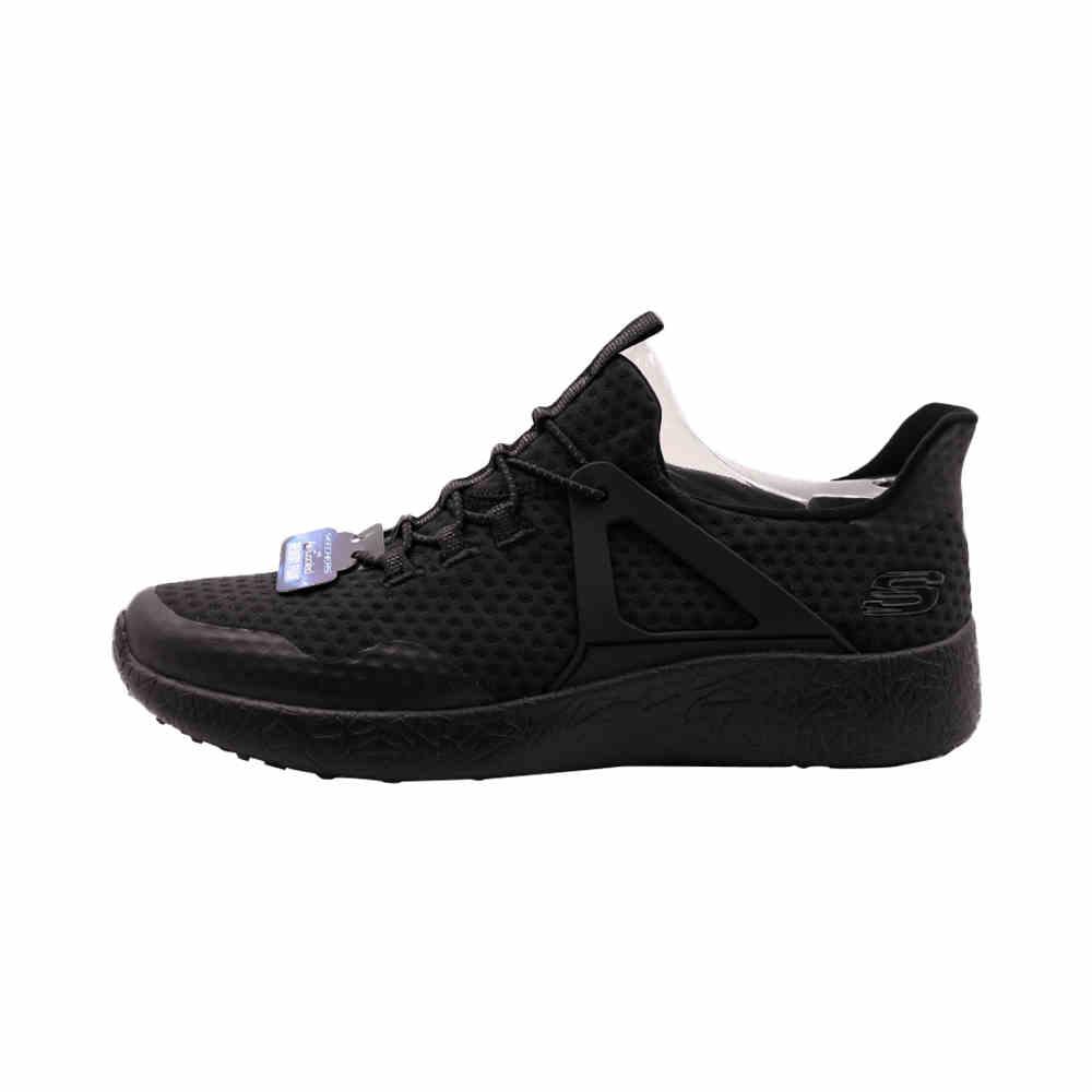 斯凯奇 男鞋BURST运动鞋低帮跑步鞋正品进口黑色夏季跑鞋 52115-BBK-BLK