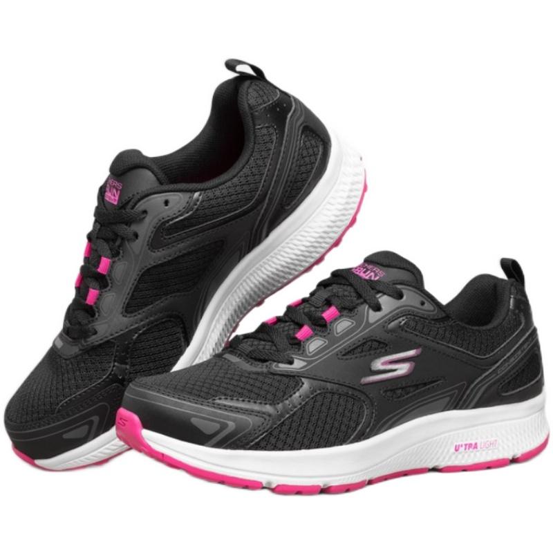 斯凯奇 女款跑步鞋软弹减震跑鞋跑步鞋休闲运动鞋 128075-BKPK