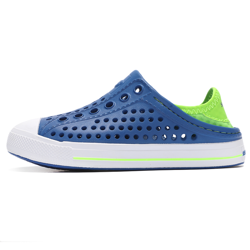 斯凯奇 男童女童凉鞋2021夏季新款大童运动鞋儿童休闲洞洞鞋沙滩鞋 91995L-BLLM