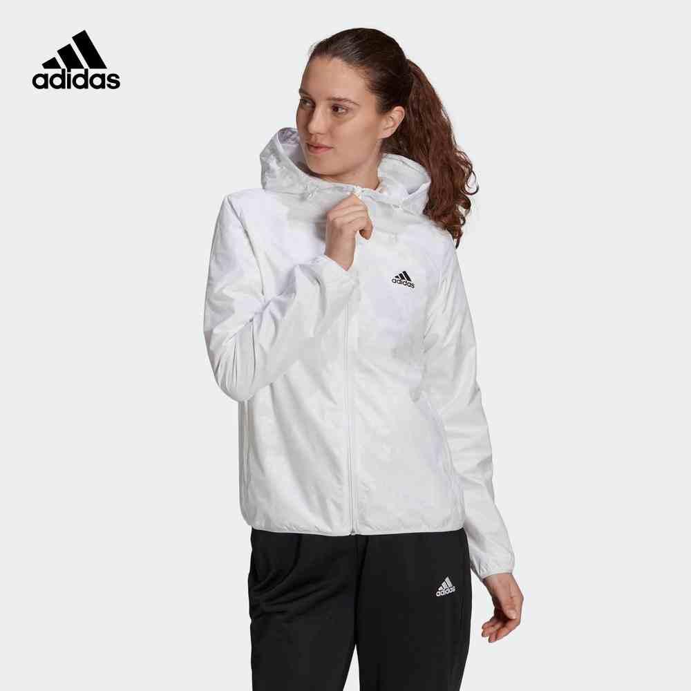 阿迪达斯 adidas 女装春季训练运动型格夹克外套 GQ0615