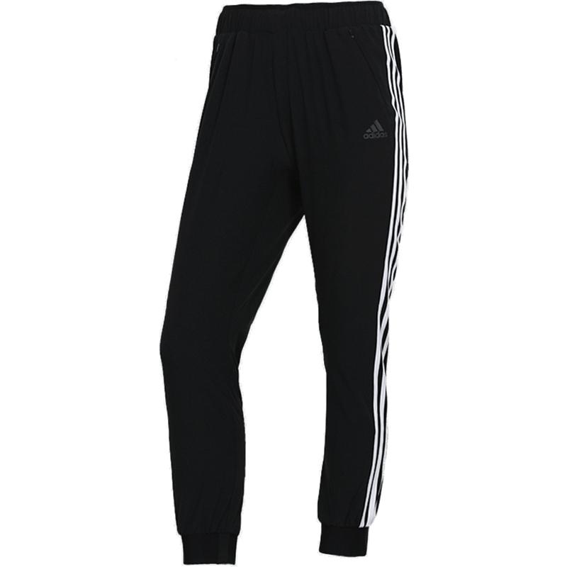 阿迪达斯 女裤子2021夏季新款宽松拉链口袋束脚裤运动裤长裤 DY8696