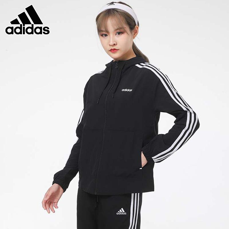 阿迪达斯 neo外套女夹克2021春季新款连帽跑步健身服运动服 GP5582