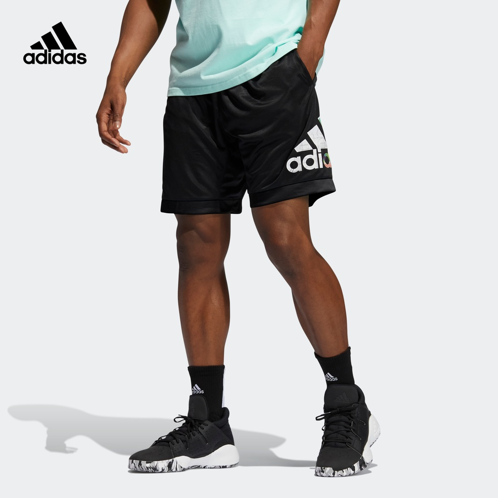 阿迪达斯 adidas ABSTRACT SHORT男装夏季篮球运动短裤 GH6723