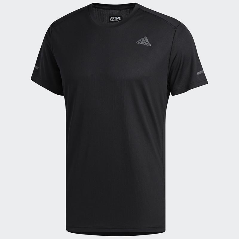 阿迪达斯 短袖男2021夏季新款跑步训练健身运动T恤圆领半袖 FL6972