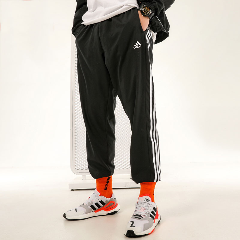 阿迪达斯 裤子男裤2021春季新款跑步运动裤休闲宽松收口长裤 GN0818