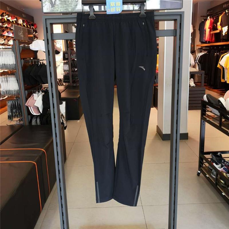安踏女裤跑步系列新款2020年女子九分裤 162035505-1-黑色