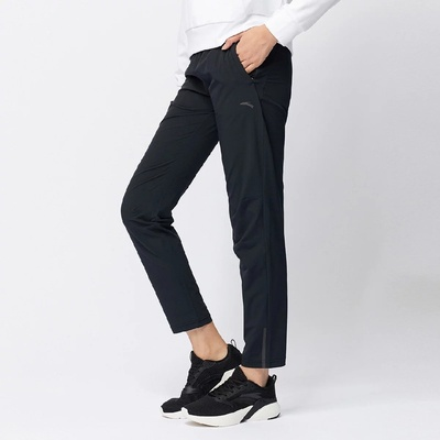 安踏运动裤女新款薄款速干裤跑步系列女九分裤 162037506-1-黑色