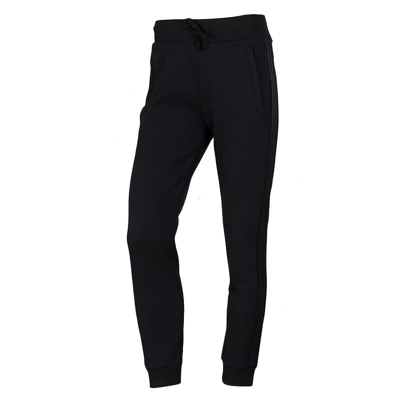 阿迪达斯 2021春季新品运动裤跑步舒适透气棉质休闲针织女长裤 FM9309 拉链口袋