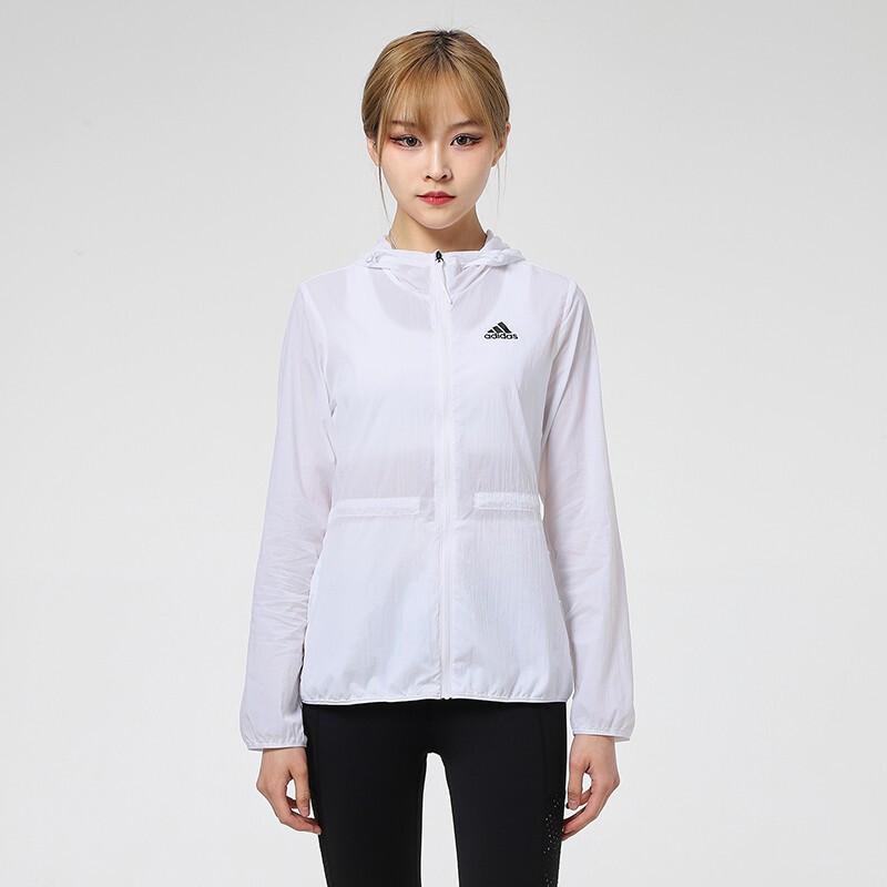 Adidas阿迪达斯防风衣女上衣 2021夏季户外运动服跑步皮肤衣轻薄休闲透气夹克外套GQ0628