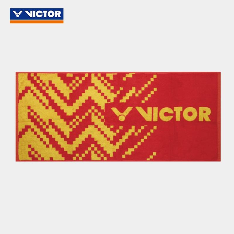 威克多VICTOR胜利运动毛巾跑步擦汗洗浴巾 TW182-火焰红-方钠石蓝