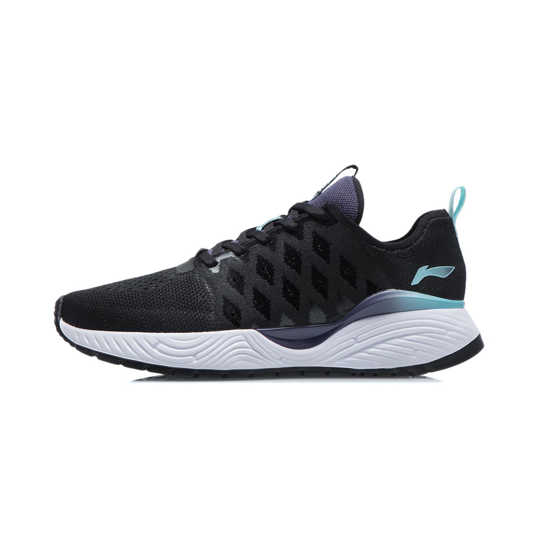 LI-NING 李宁 团购系列 女休闲慢跑鞋 黑色 ARSR020-1