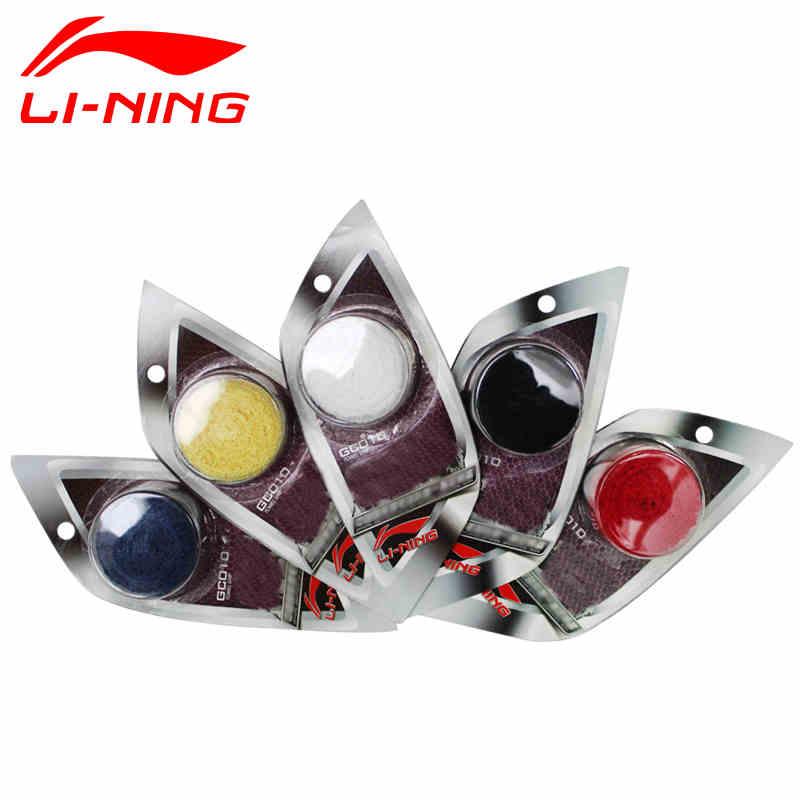 LINING李宁GC010羽毛球拍网球拍手胶防滑耐脏吸汗带运动毛巾手胶 AXJD038-蓝色-黄色-红色-黑色-白色