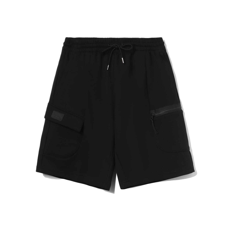 LI-NING 李宁 团购系列 男 短卫裤  黑色 AKSR341-2