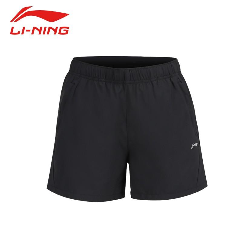 李宁运动短裤夏季短裤女裤子AKSR520-1 标准黑
