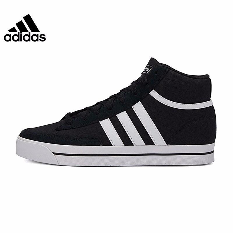 adidas阿迪达斯2021夏季男鞋RETROVULC MID运动休闲高帮板鞋 H02212