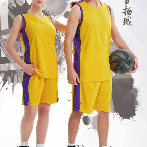 中健男女篮球服套装  21509、21510-白色-正天蓝-黑色-大红-黄色