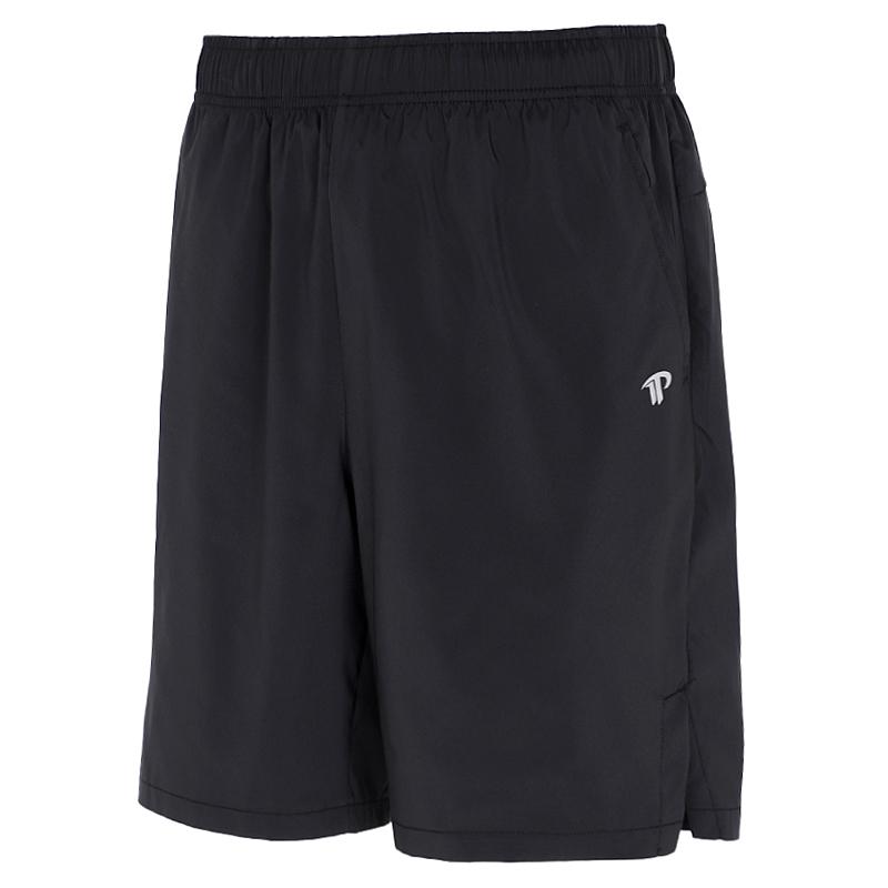 TOURMARK 短裤男女同款2021夏季新款运动裤跑步裤健身裤五分裤梭织短裤 黑色 T27109-02、T27110-02