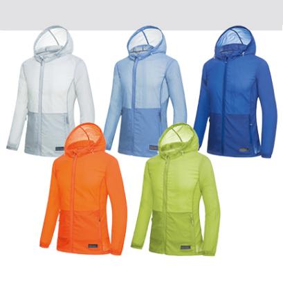 TOURMARK 男女同款防晒衣皮肤衣 KM21308-0700-白-浅蓝-蓝-橙-绿