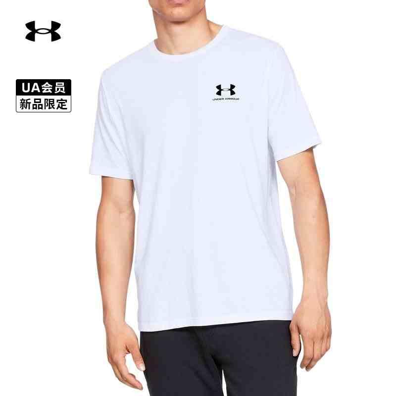 安德玛 UA Sportstyle男子训练运动短袖T恤 1326799-100